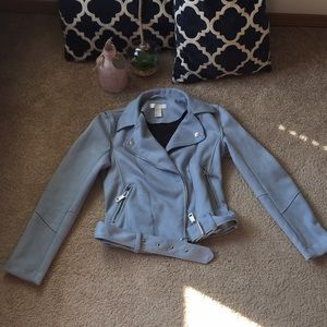 As seen on Caelynn Bachelor. H&M Blue Moto Jacket